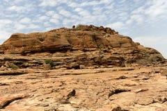 Desert and cliff in Bandiagara Escarpment, Mali, Africa Royalty Free Stock Image