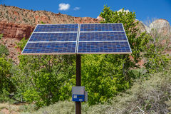 Desert Climate Free Standing Solar Panel Stock Photos