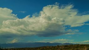 Desert Clouds stock footage