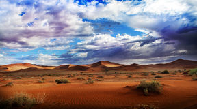 Desert and clouds Royalty Free Stock Photography