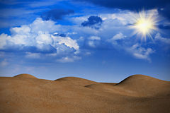 Desert in cloudy weather Royalty Free Stock Image