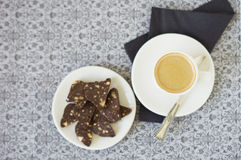 Desert with coffee Royalty Free Stock Photos