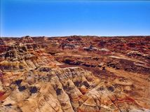 Desert Colours. Hills filled with minerals in the middle of the Gobi Desert Royalty Free Stock Photography