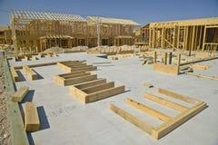 Desert construction of new homes in Clark County, Las Vegas, NV Royalty Free Stock Photos