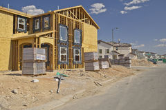 Desert construction of new homes in Clark County, Las Vegas, NV Stock Photos