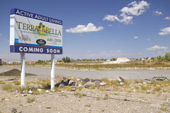Desert construction of new homes in Clark County, Las Vegas, NV Stock Photography