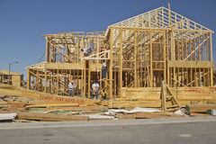 Desert construction of new homes in Clark County, Las Vegas, NV Stock Image