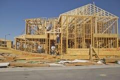 Desert construction of new homes in Clark County, Las Vegas, NV Stock Image