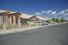 Desert construction of new homes in Clark County, Las Vegas, NV Stock Photo