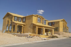 Desert construction of new homes in Clark County, Las Vegas, NV Royalty Free Stock Photography