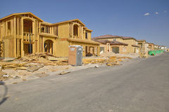 Desert construction of new homes in Clark County, Las Vegas, NV Royalty Free Stock Photos