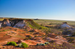 Desert of Coober Pedy. The Amazing Colors of the Desert at Coober Pedy Australia Stock Photos