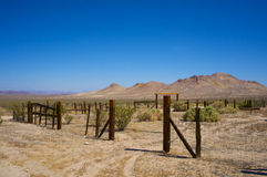 Desert Corral in Mojave Stock Images