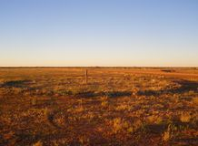 Desert Country. The flat country of the Australian desert Stock Photos