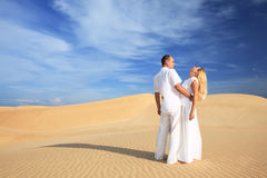 Desert couple Stock Photos