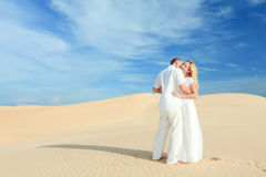 Desert couple Stock Images