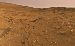 Desert cracked ground Stock Photo