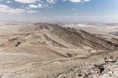 Desert crater cliffs mountains. Stock Photo