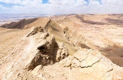 Desert crater cliffs mountains. Stock Photos