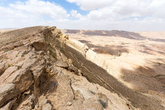 Desert crater cliffs mountains. Royalty Free Stock Images