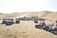 Desert cross-country travel! Royalty Free Stock Photos