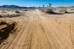 Desert Cross Roads Royalty Free Stock Photos