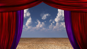 Desert Curtains Royalty Free Stock Image