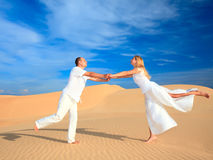 Desert dancing Stock Images