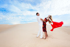 Desert dancing Royalty Free Stock Image