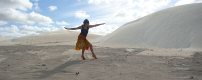 Desert Dancing Woman Royalty Free Stock Image
