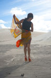 Desert Dancing Woman Stock Image