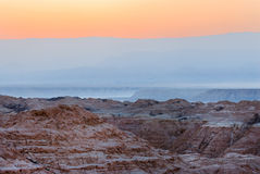 Desert before dawn Stock Image