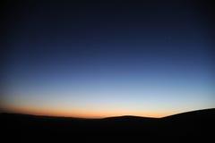 Desert in dawn Royalty Free Stock Photo