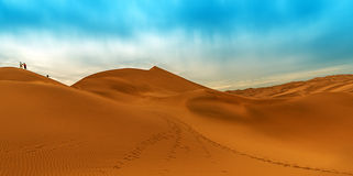 The desert. Deserts are tidy, because there are no weeds in them, nothing that crawled.It is like a furnace without water.In a mysterious  city, yellow sand Stock Photography
