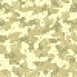 Desert digit camouflage seamless pattern Stock Photos