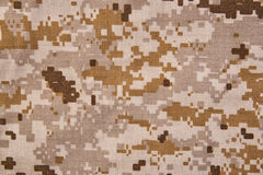Desert digital camouflage fabric texture background. Stock Images
