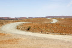 Desert dirt road Australia Stock Photo