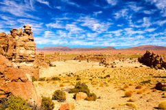 Desert and Dramatic Sky Royalty Free Stock Images