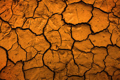 Desert Dried Mud Parched Dirt Earth Representing Climate Change Stock Image