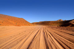 Desert drive Royalty Free Stock Photography
