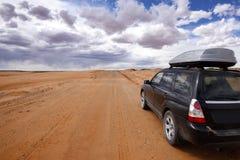 Desert drive Royalty Free Stock Photos