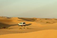 Desert driving. Near Dubai, UAE stock photos