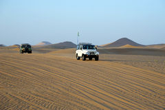 Desert driving Royalty Free Stock Photography
