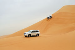 Desert driving Stock Images