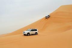 Desert driving. In Rub al Khali stock images