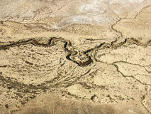 Desert and dry river. Royalty Free Stock Photography