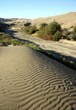 Desert with dry riverway. Was taken in dunhuang of china, the desert with dry riverway Stock Image