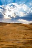 Desert in Dubai Royalty Free Stock Photography