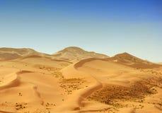 Desert dune silhouette Royalty Free Stock Photo