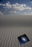 Desert dune with stars Royalty Free Stock Photo